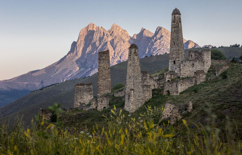 russia, ingushetia, tower, towers, landscape, mountains Watch Towers of Ingushetiaphoto preview
