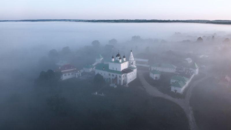 рассвет, монастырь, туман Рассвет в Анастасовом монастыреphoto preview