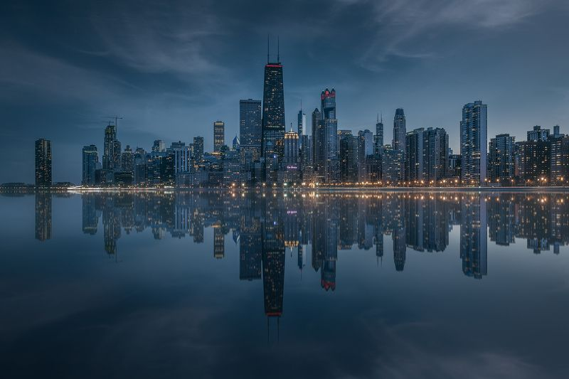 chicago, reflections, skyline Reflections of Chicagophoto preview