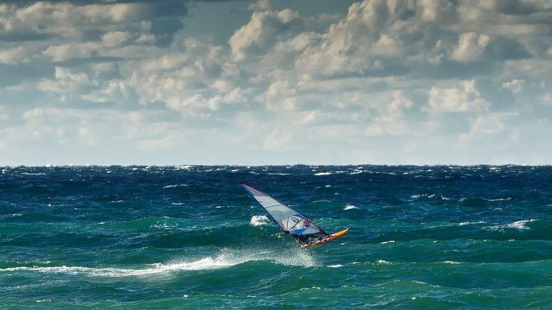 севастополь, море, серфинг. Свежий ветер.photo preview