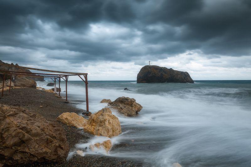 севастополь, море, шторм, закат. Не сезон...photo preview