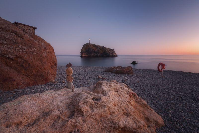 севастополь, фиолент, море, небо. Бабье лето, послезакатное.photo preview