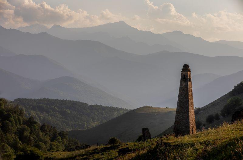 russia, ingushetia, tower, watch tower, landscape, mountains Niy Watch Tower, Ingushetia, Russiaphoto preview