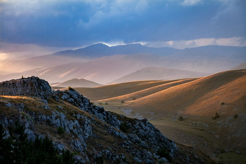 mountains, sunset, sky, italy, landscape, nature Last raysphoto preview