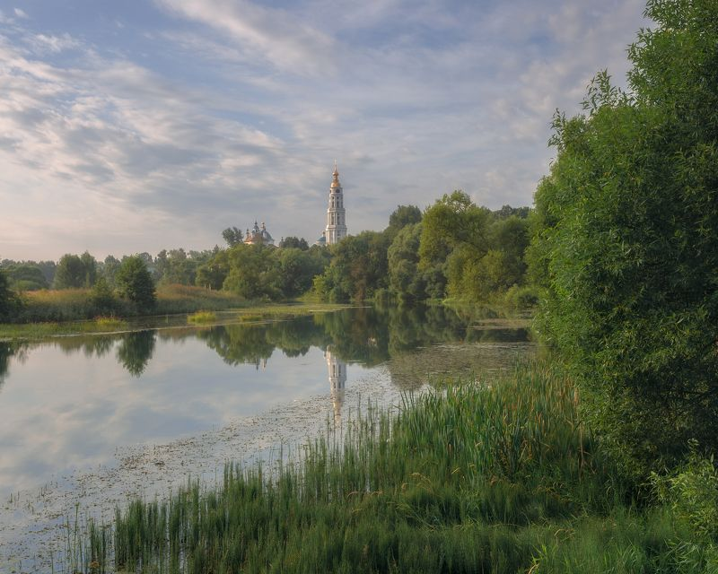 пейзаж, утро, Ухтома, Лежнево, Ивановская область, Россия, природа. Утро в Лежневоphoto preview