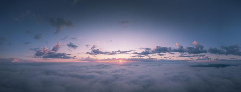 облака, рассвет, туман, горная шория Над облакамиphoto preview