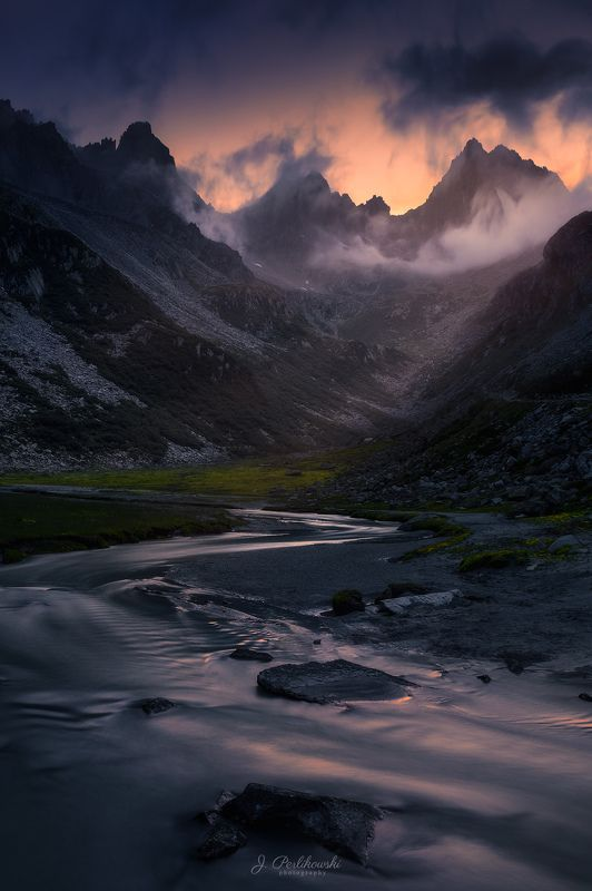 dusk, alps, mountains Alps at duskphoto preview