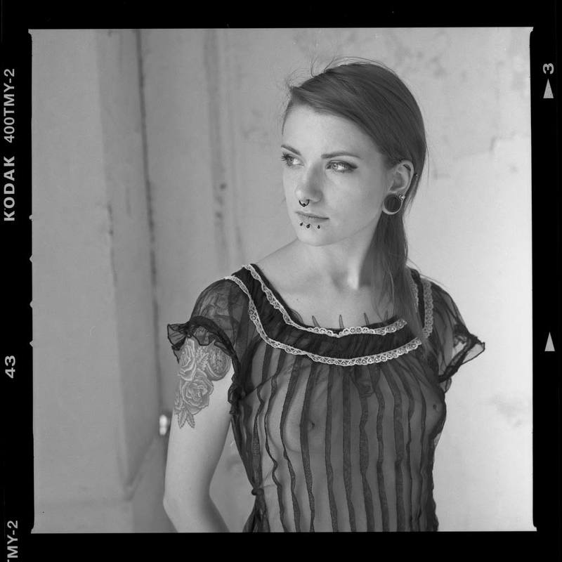 djfoto, urbex, abandoned, vilnius, gothic, film, hasselblad Girl with piercingphoto preview