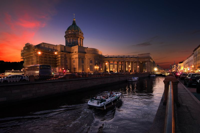 church,cathedral,city,evening,timeblending,architecture,sunset,russia,europe Казанский Соборphoto preview