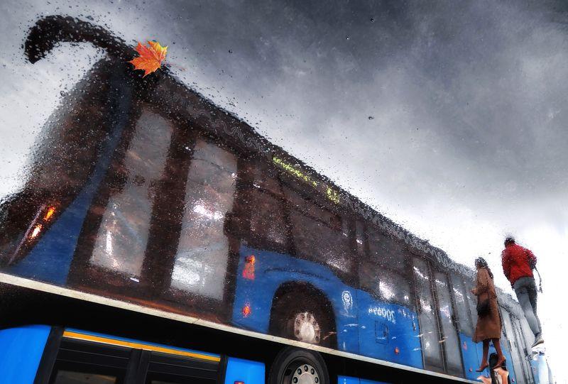 электробус Мокрый асфальт московской осениphoto preview