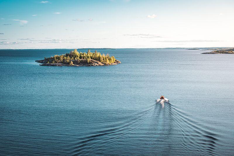 карелия, ладога, озеро, россия, остров, пейзаж, закат Ладогаphoto preview