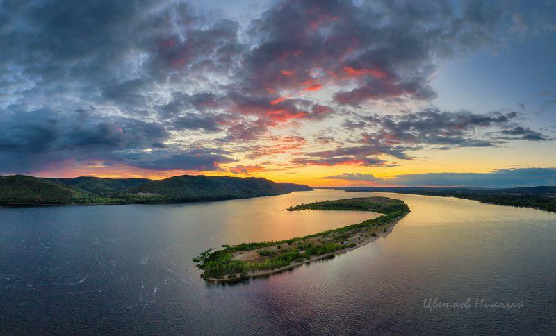закат, волга Волгаphoto preview