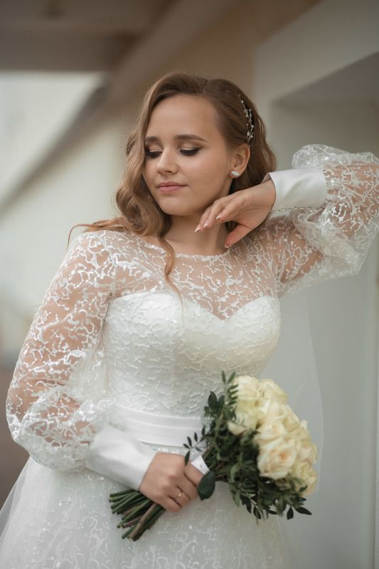 свадьба, свадебная фотосессия,  невеста, свадебное платье, счастье, любовь, портрет, фотосессия, bride, wedding, love, happy, dress, wedding dress, portrait, woman, женский портрет, свадебная фотография, wedding photography Невеста Екатеринаphoto preview
