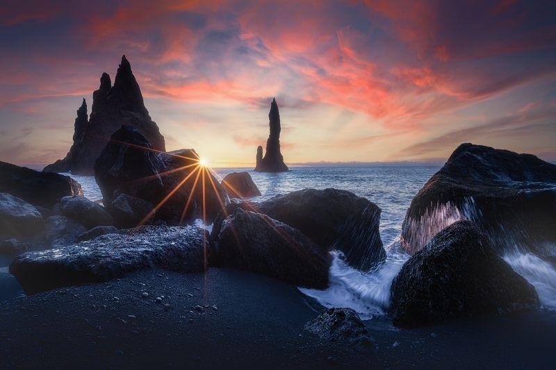iceland, sunrise, vik, colorful Iceland Sunrisephoto preview