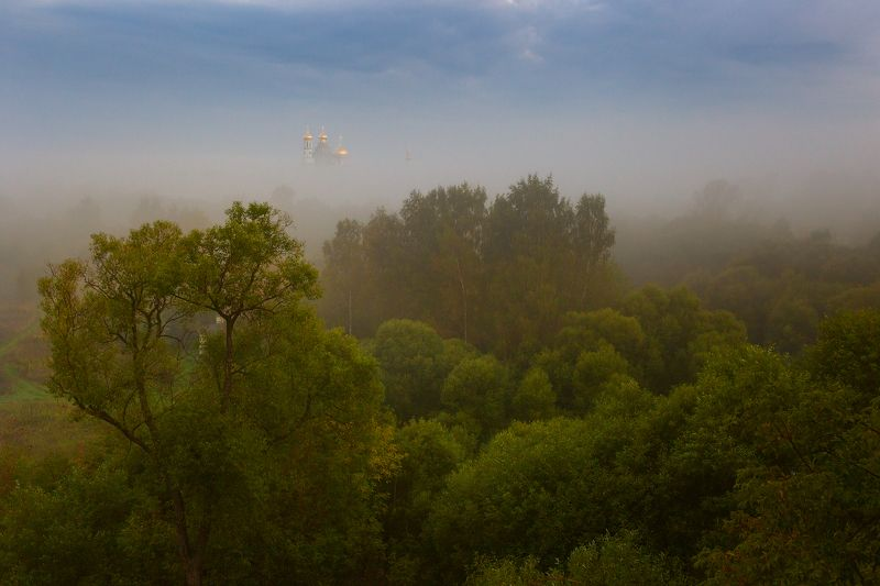 туман, храм, утро, подмосковье, истра Утренний этюдphoto preview