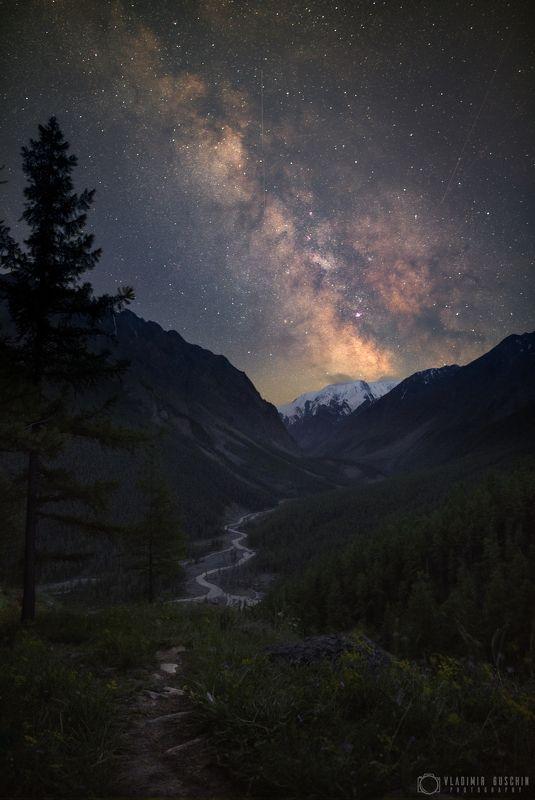 млечный путь, астрофотография, ночь, алтай, горный алтай Млечный путь над долиной р. Маашейphoto preview