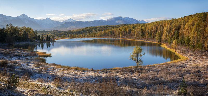 ...Осенний вид на озеро...photo preview