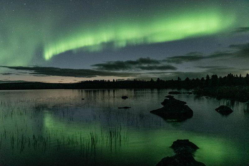Ночь, Северное сияние Купание Северной Аврорыphoto preview