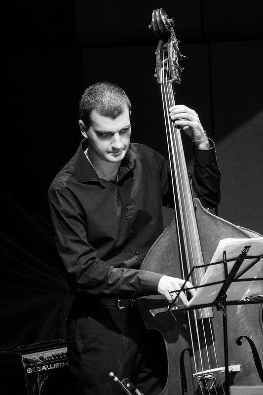музыкант, контрабас ***photo preview