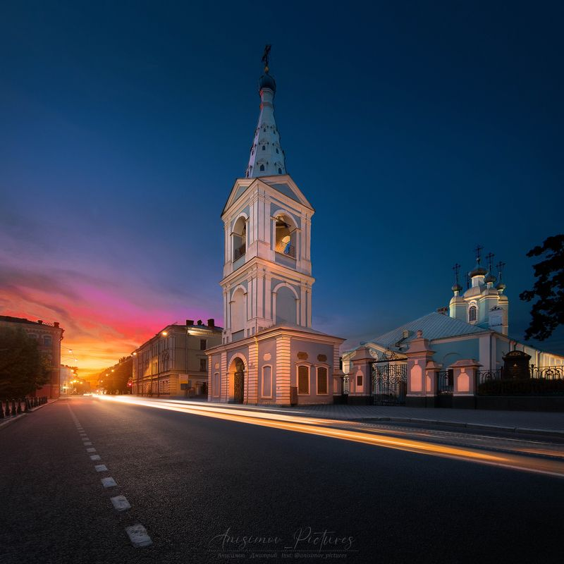 church,cathedral,city,evening,timeblending,architecture,sunset,russia,europe Сампсониевский соборphoto preview