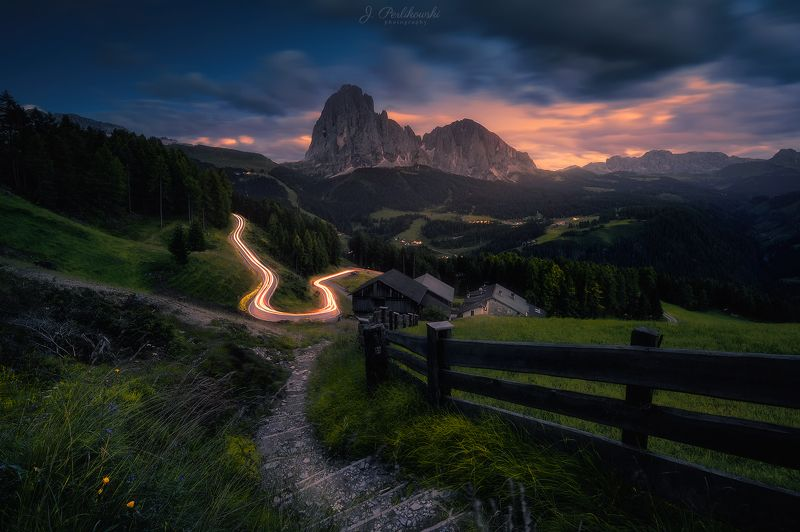alps, long exp, long exposure, mountains, lights, lighttrails After sunsetphoto preview