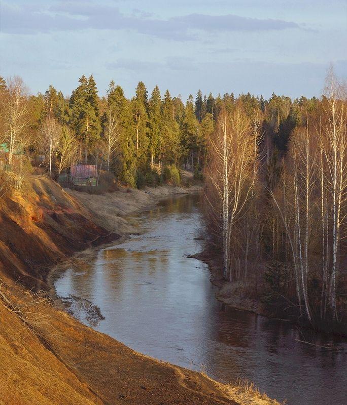 Весна, закат, река Весенний Оредежphoto preview