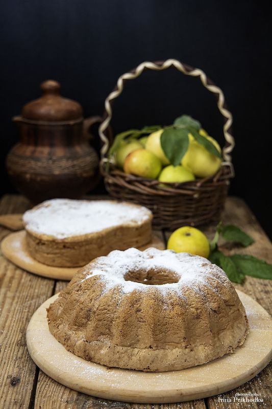 фуд-фото, натюрморт, шарлотка, яблочный пирог, яблоки, осень Пришло время яблочных пироговphoto preview