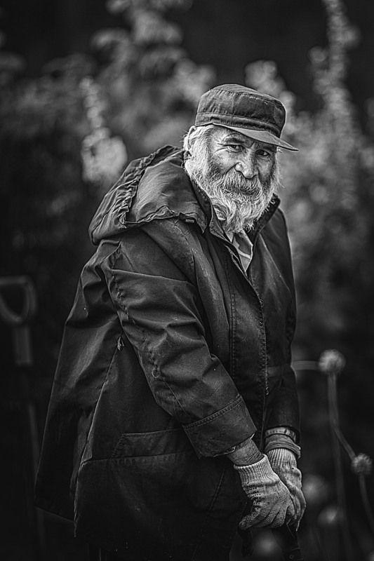 мужчина, деревня, мужской портрет, старик, мужчина с бородой Коляphoto preview