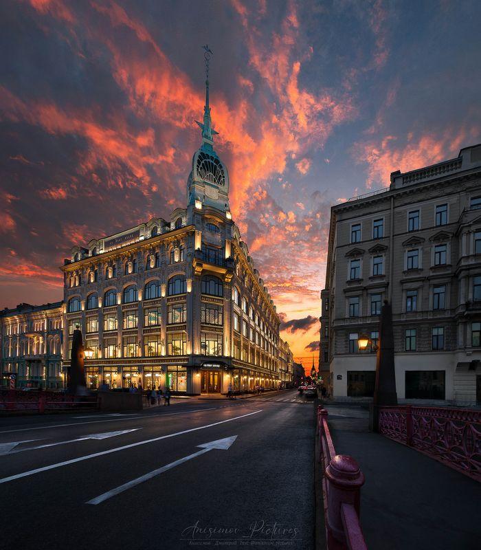 city,evening,timeblending,architecture,sunset,russia,europe Универмаг \