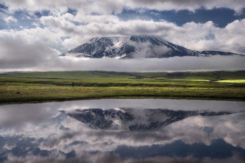 камчатка Толбачик в облакахphoto preview