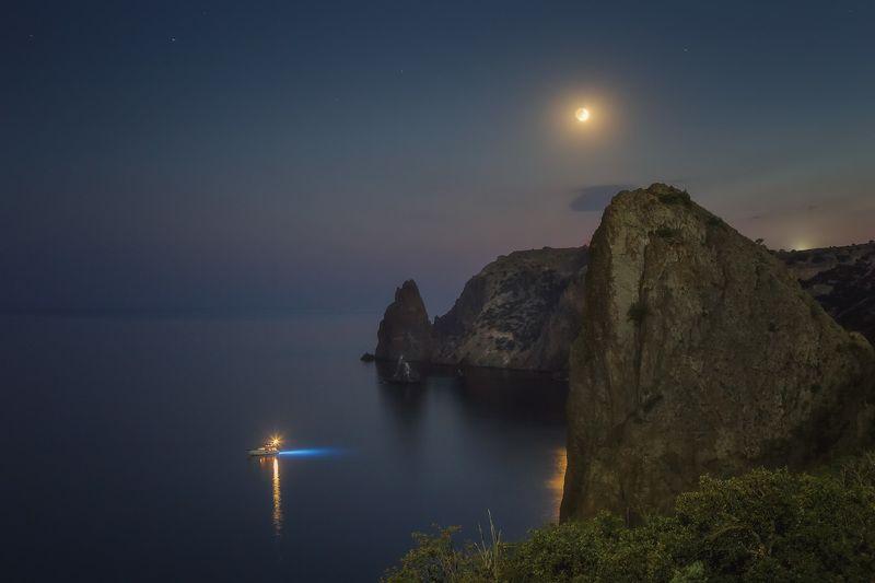 луна, вечер, море, севастополь. Время луны.photo preview