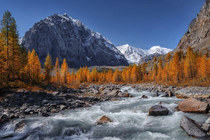 алтай, озеро, горы, лес, природа, закат, рассвет, красота, приключения, путешествие Осень пришла на Актруphoto preview