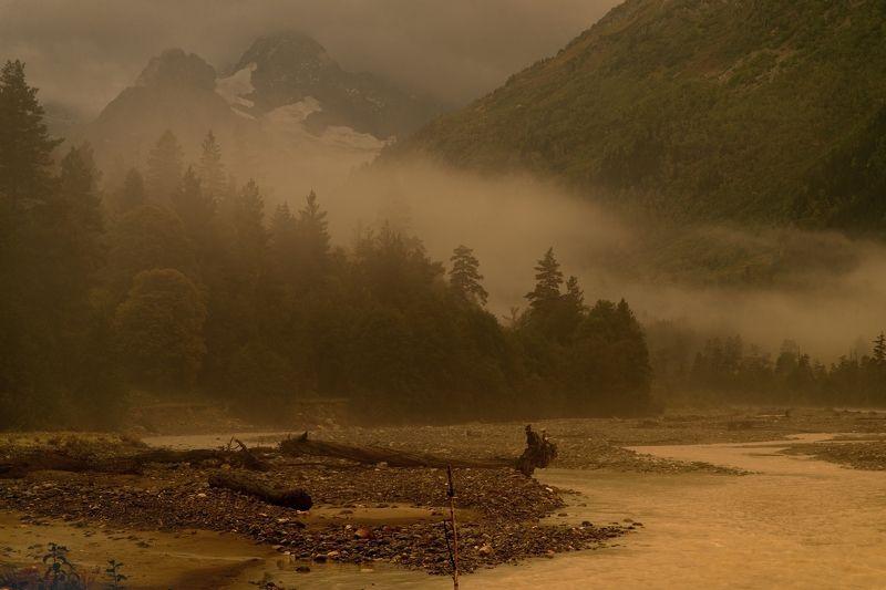 горы осень река аксаут Туманное утроphoto preview