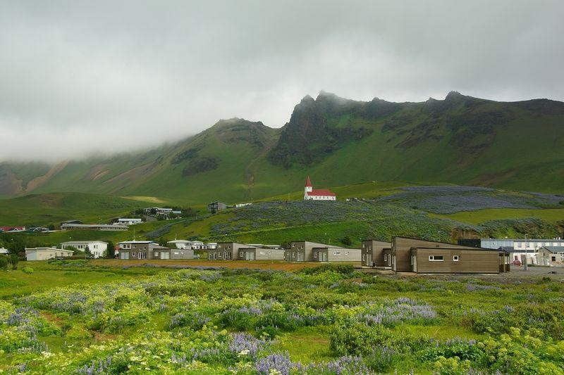 hill, mountain, city, sky, church, ocean, coast, grass, flowers Little countryphoto preview