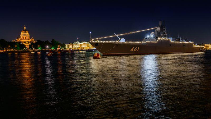 питер, нева, санкт-петербург, мост, ночь, корабль, река, К параду готов!photo preview