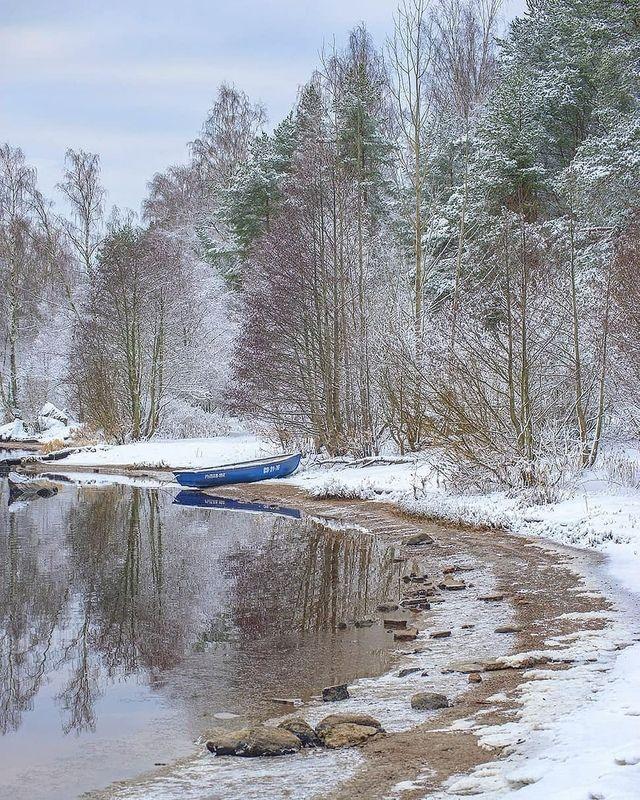 Первый снег фото превью