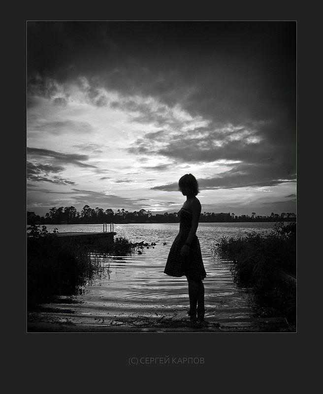 вода, девушка, небо Тоскаphoto preview