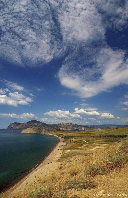 крым, море, горы, облака Взгляд с небаphoto preview