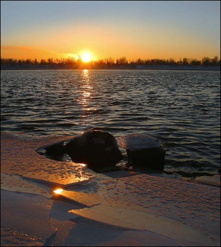 солнце,река,закат Закатphoto preview