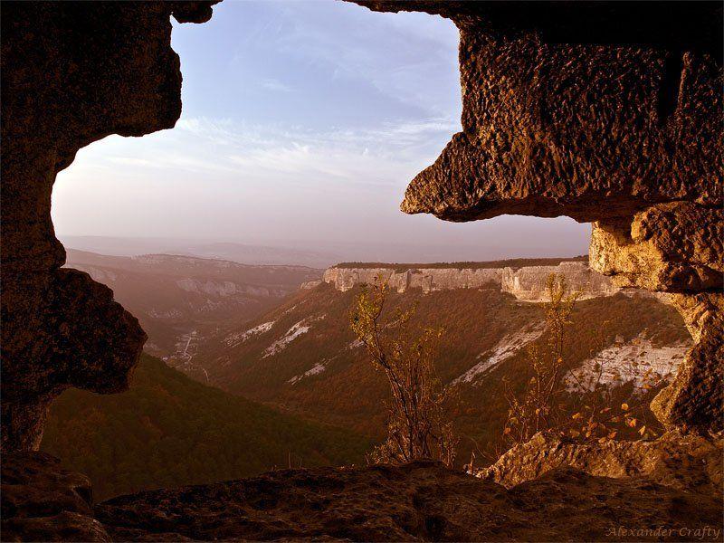 крым, горы, закат,  пещерный город Пещерный городphoto preview