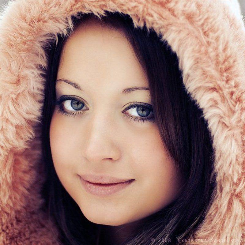 девушка, зима, снег,портрет photo preview