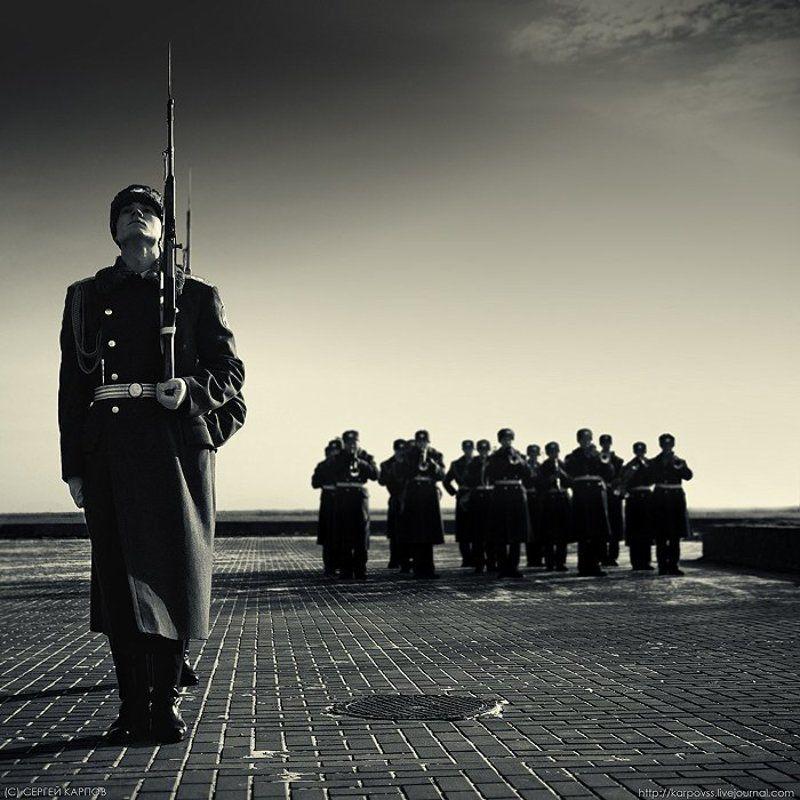 репортаж, жанр, пост, оркестр, военные Постphoto preview