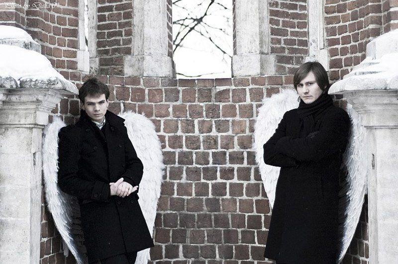ангелы, крылья, зима Ангельские крылья или...photo preview