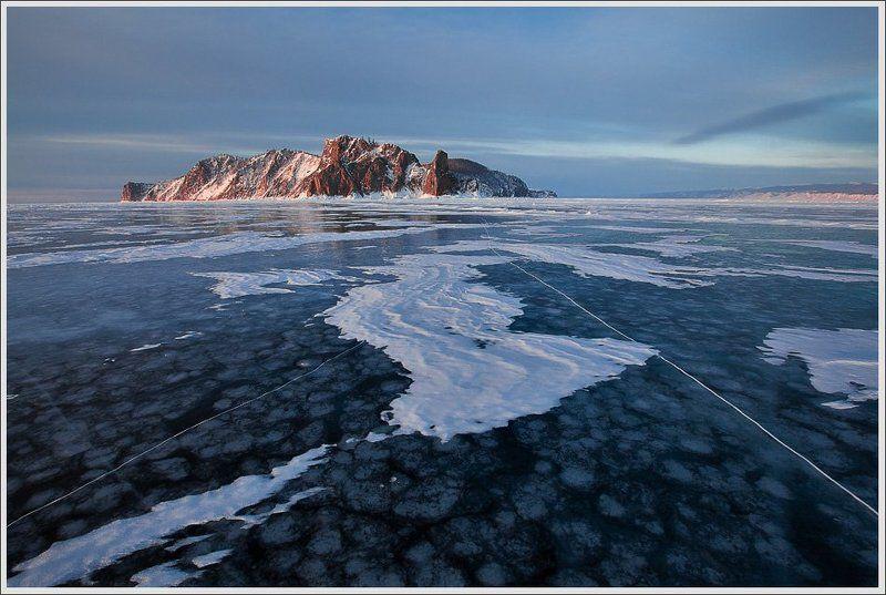 Байкал.Хобой встречает рассвет.photo preview