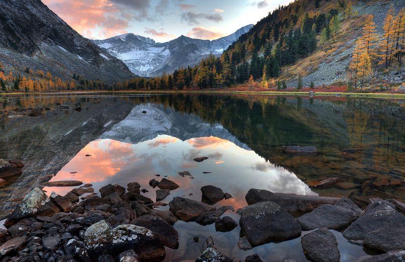 Вечер у озера фото превью
