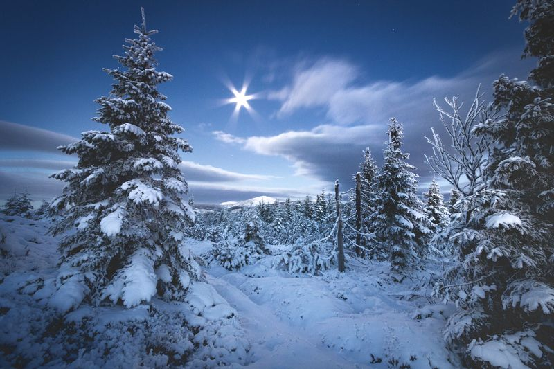 landscape,winter,mountains,canon Late Night... фото превью