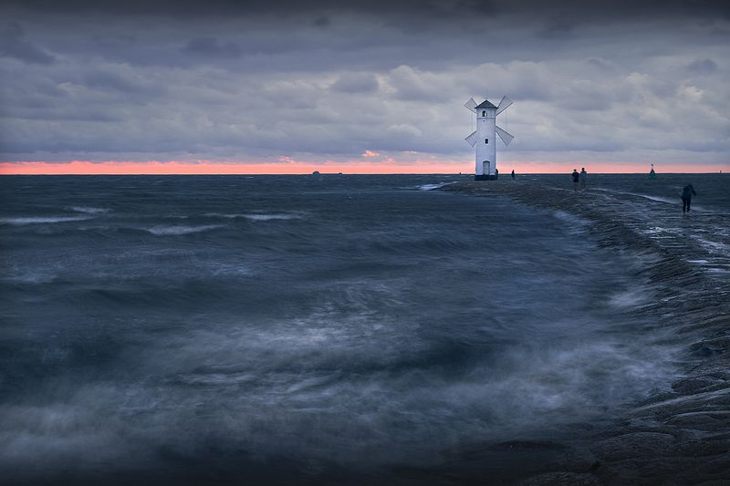 Windy sunset on the Baltic Seaphoto preview