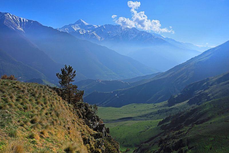Ингушетия, Кавказ, Казбек, Столовая гора, Армхи Казбек со Столовой горыphoto preview
