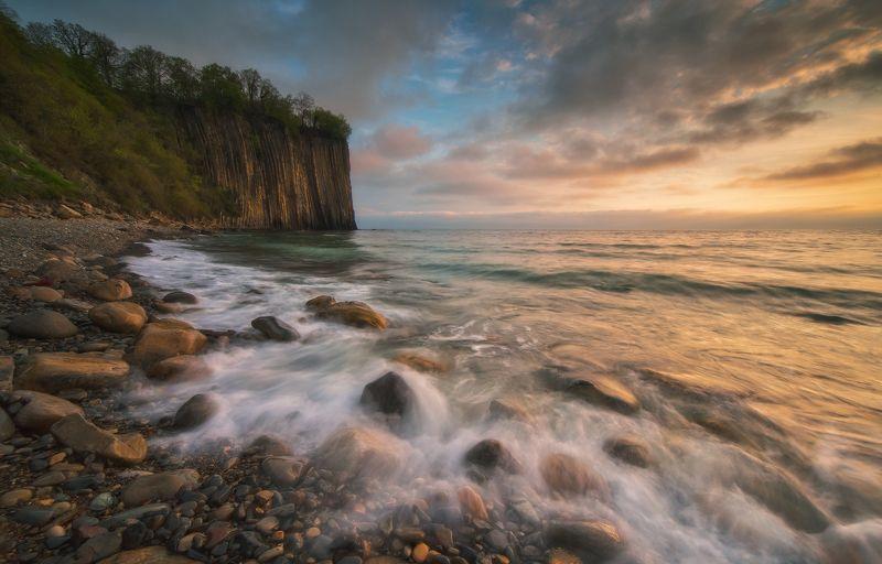 черное море, туапсе, скала киселёва, вечер,закат Черноморский вечерphoto preview