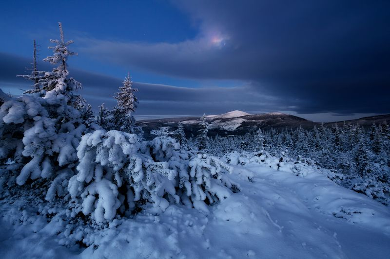 landscape,winter,mountains,canon,night The Brightest Night... фото превью